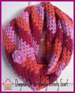 Free Crochet Pattern: Diagonal Stripe Infinity Scarf