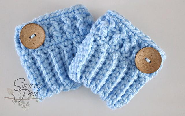 Free Crochet Pattern: Chunky Boot Cuffs