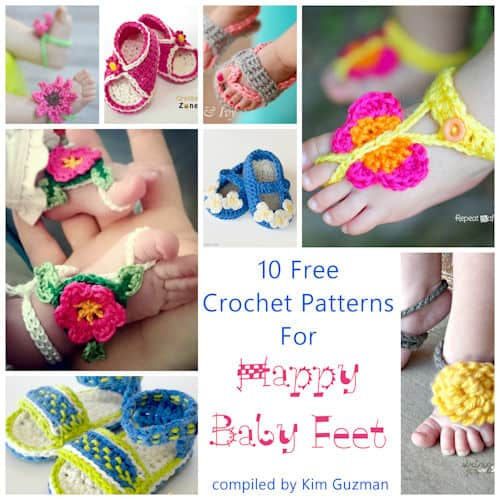 Link Blast: 10 Free Patterns for Baby Sandals