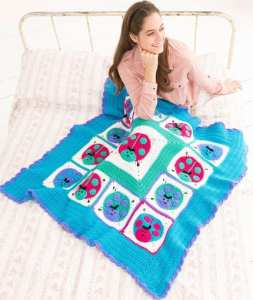 Free Crochet Pattern: Lucky Ladybug Throw