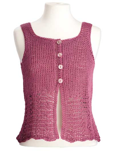 CrochetKim Free Crochet Pattern | Elisa Sleeveless Top