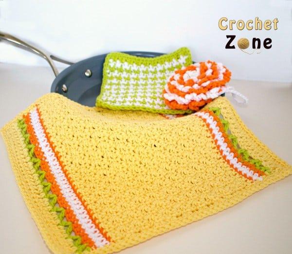 Citrus Splash Kitchen Set Free Crochet Pattern