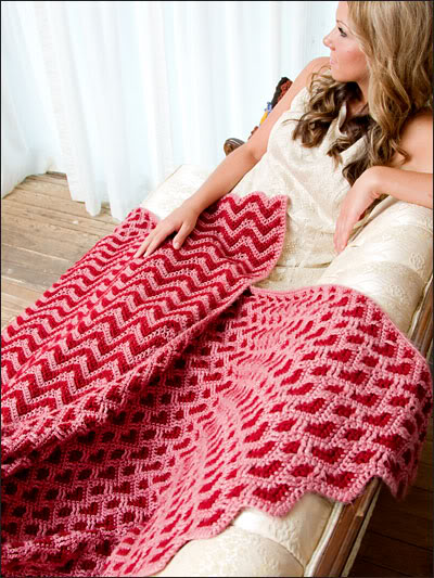Sweetheart Ripple Afghan by Kim Guzman