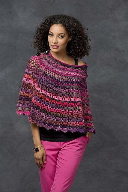 Free Crochet Pattern: Dubonnet Poncho