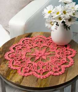 Free Crochet Pattern: Exquisite Flower Doily