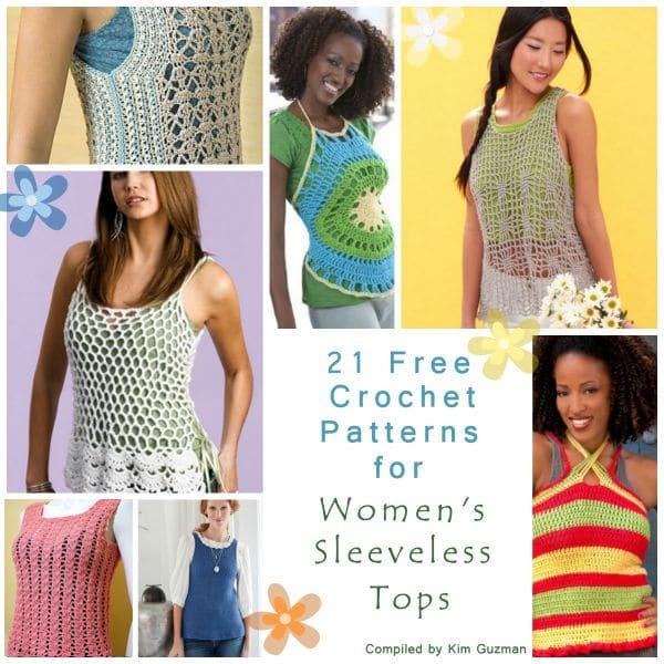Link Blast 21 Free Crochet Patterns For Womens Sleeveless Tank Tops
