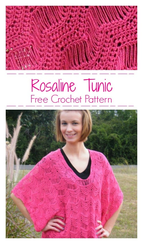 Rosaline Kimono Tunic CrochetKim Free Crochet Pattern
