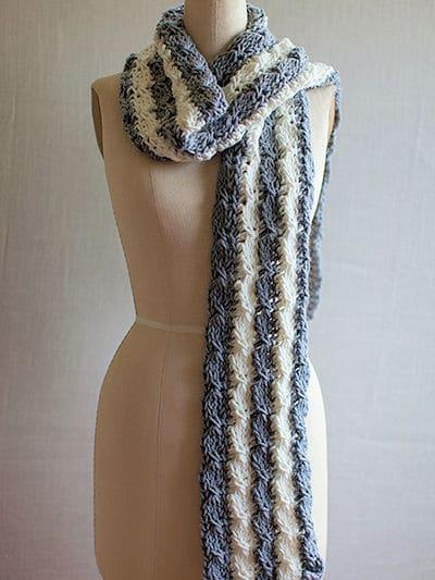 Tunisian Mock Cable Scarf   CrochetKim Free Crochet Pattern
