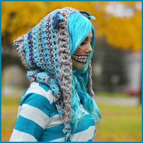 Cheshire Cat Hoodie Free Crochet Pattern