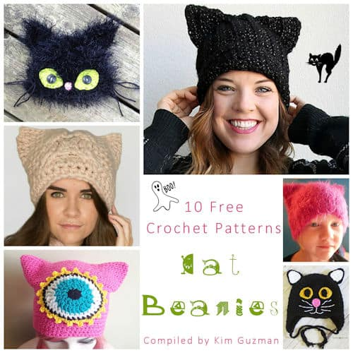 Link Blast 10 Free Crochet Patterns For Cat Beanies Crochetkim
