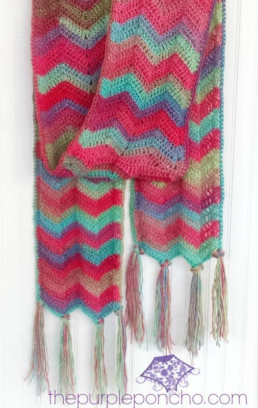 Chevron Super Scarf Free Crochet Pattern