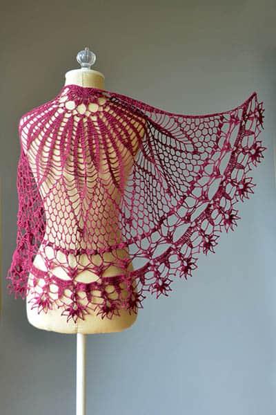 Corona Shawl Free Crochet Pattern Crochetkim