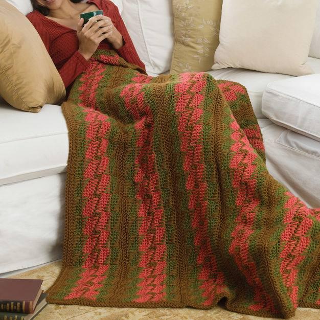 Bargello Throw | CrochetKim Free Crochet Pattern