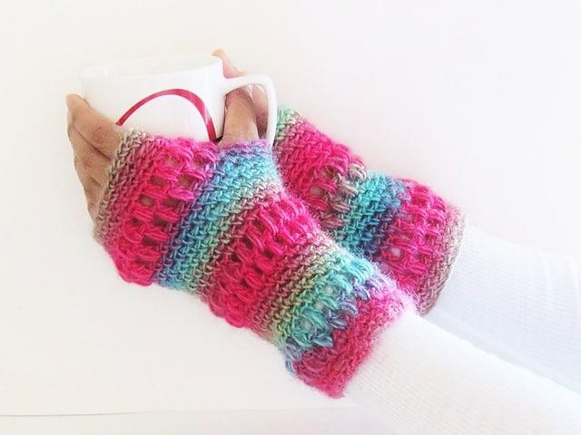 Free Crochet Pattern: Boutique Fingerless Gloves