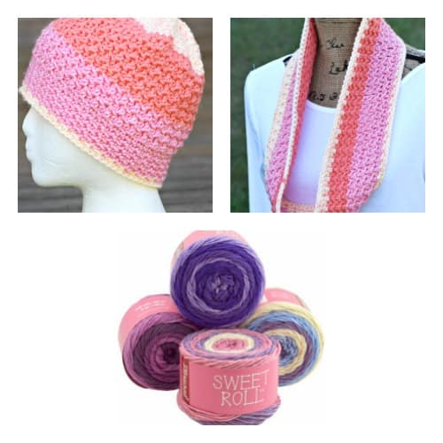 Free Crochet Patterns: Swirling Pebbles Beanie and Scarf