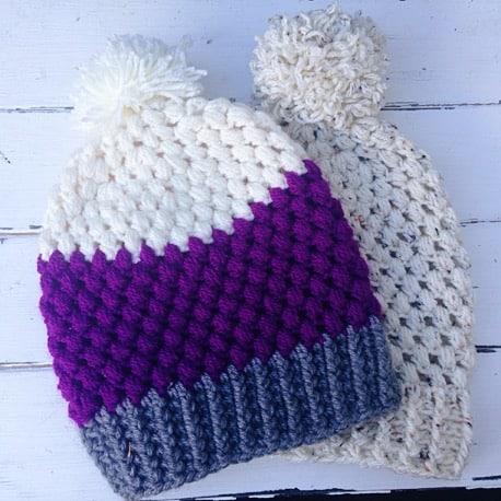 Puff Stitch Beanie Free Crochet Pattern Crochetkim