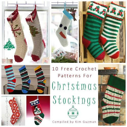 Link Blast 10 Free Crochet Patterns For Christmas Stockings