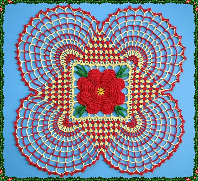 Free Crochet Pattern: Country Christmas Doily