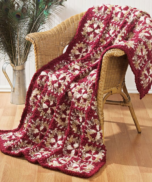 Free Crochet Pattern: Rich Treasure Throw