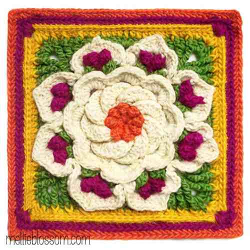 Free Crochet Pattern: Tropical Delight Afghan