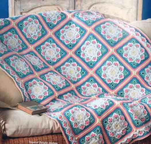 Tropical Delight Afghan Free Crochet Pattern Crochetkim