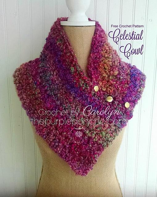 Free Crochet Pattern: Celestial Cowl