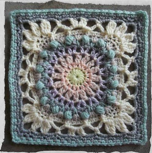 Free Crochet Pattern: Moonlight Owl Block