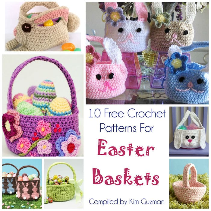 Link Blast 10 Free Crochet Patterns For Easter Baskets Crochetkim