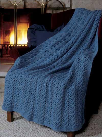 Free Knit Pattern: Eyelet Lace Afghan