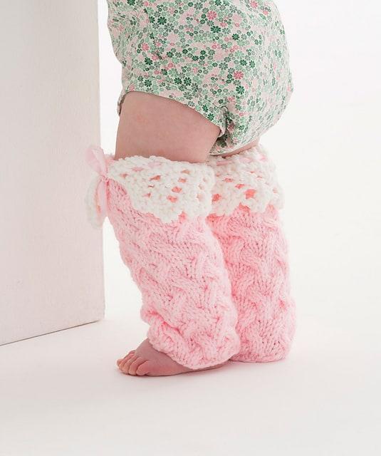 Free Knit Pattern: Lacy Baby Legwarmers