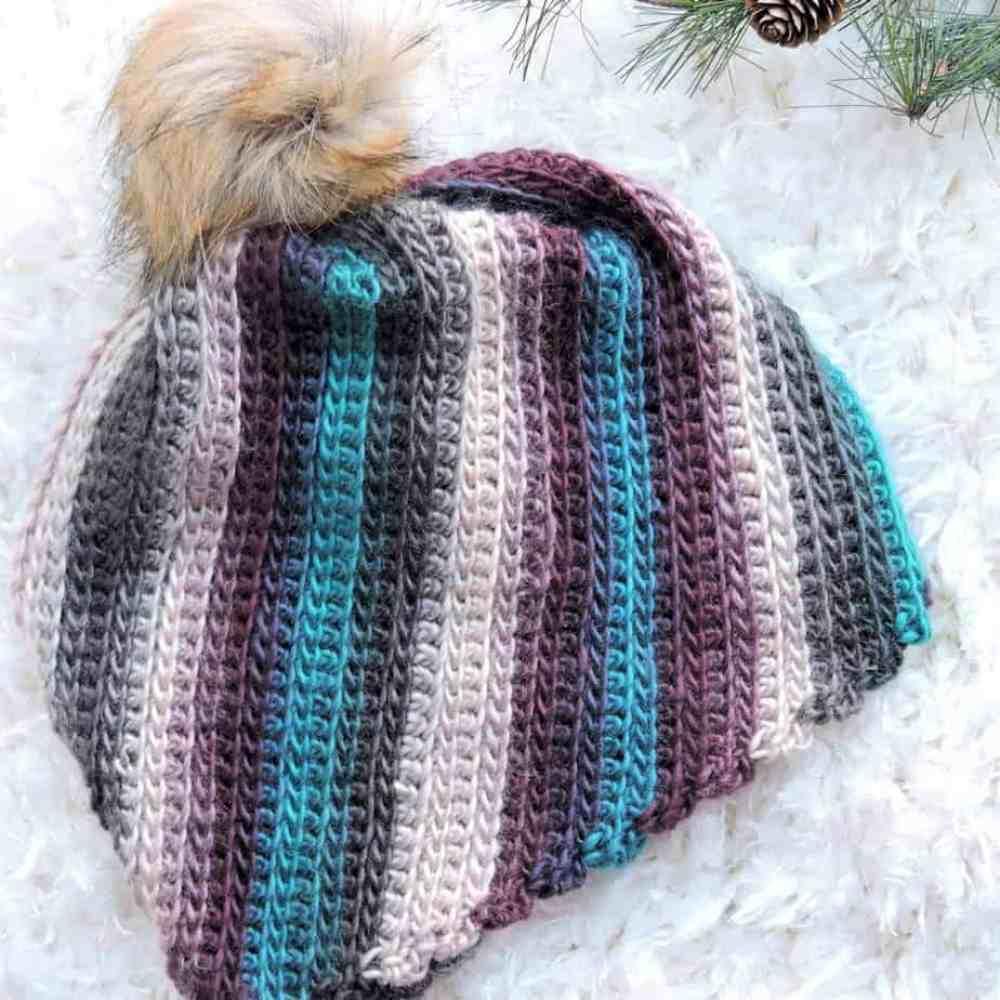 Unforgettable Spiral Beanie Free Crochet Pattern Crochetkim