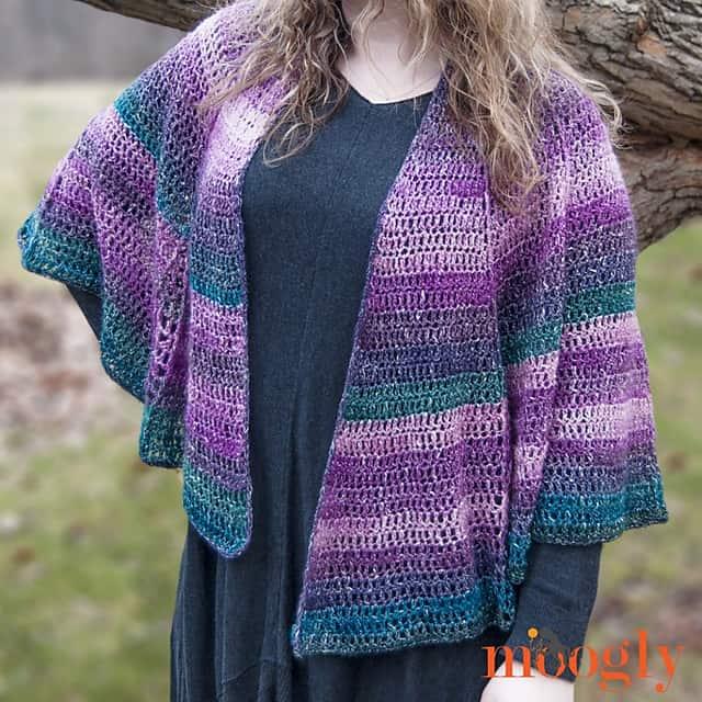 Free Crochet Pattern: Lotus Blossom Shawl