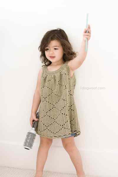 Free Crochet Pattern: Summer Diamonds Toddler Dress