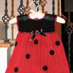Free Crochet Pattern: Ladybug Baby Dress