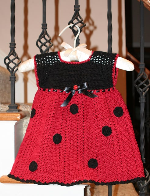 Ladybug Baby Dress Free Crochet Pattern Crochetkim