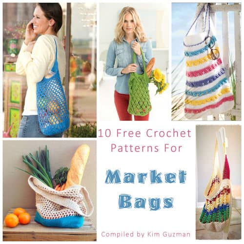 Link Blast: 10 Free Crochet Patterns for Market Bags