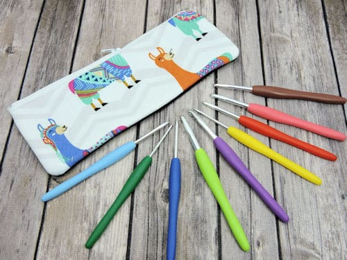 Make It Crochet Prize Drawing: Crochet Hook Set and Llama Zipper Pouch