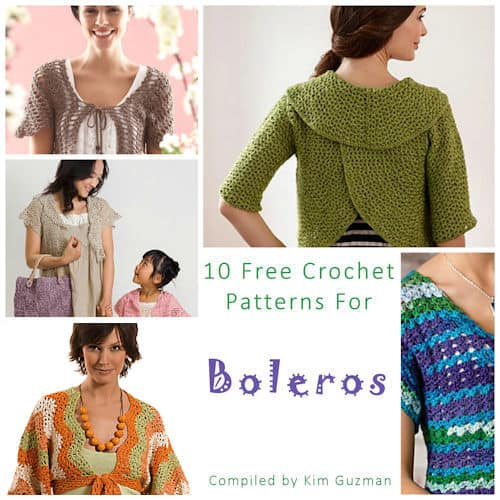 Link Blast 10 Free Crochet Patterns For Boleros Crochetkim