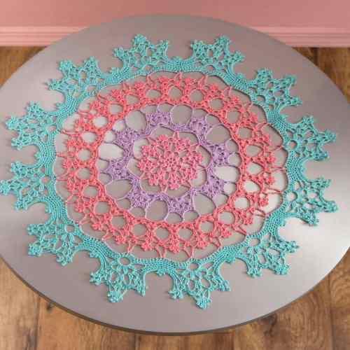Free Crochet Pattern: Wisteria Doily