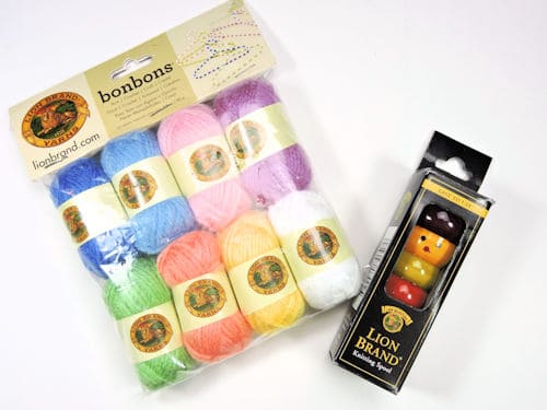 Make It Crochet Prize Entry: Lion Brand Bon Bons and Knitting Tool