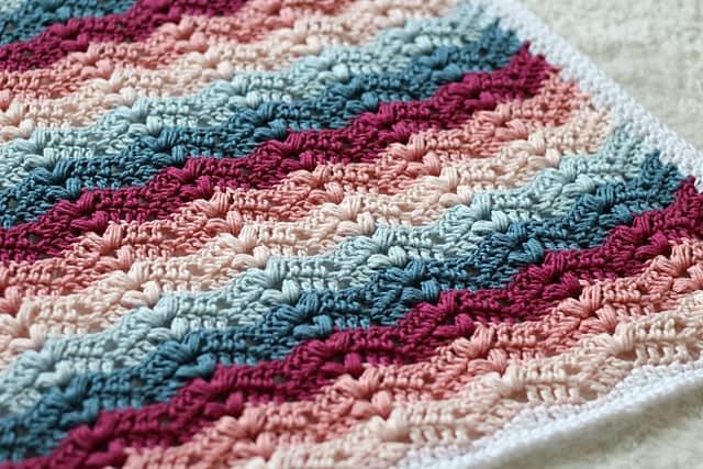 Ruby Baby Blanket Free Crochet Pattern Crochetkim