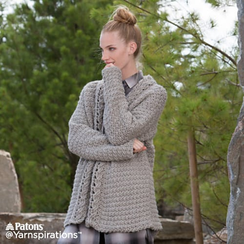 Slouchy Cardigan Free Crochet Pattern