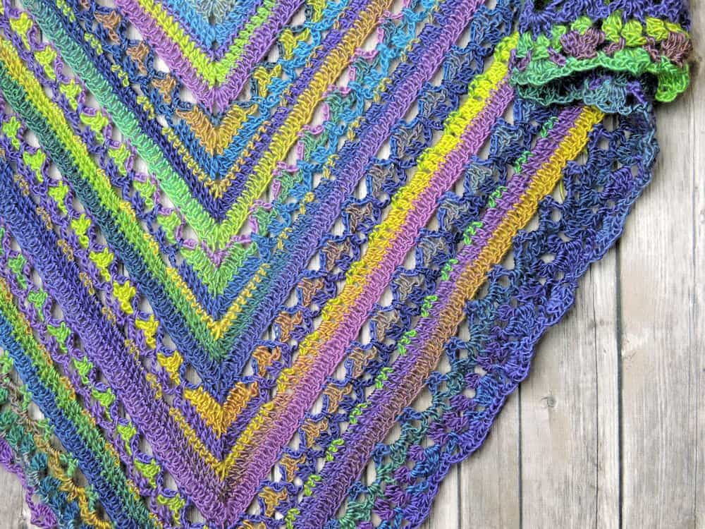 Unforgettable Lunar Crossings Shawl | CrochetKim Free Crochet Pattern