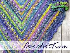 CrochetKim Free Crochet Pattern: Unforgettable Triangle Shawl