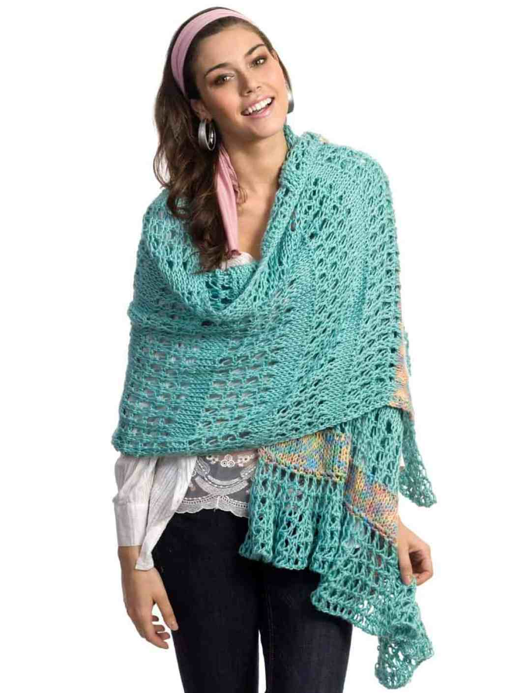 Free Crochet Pattern: Tunisian Lace Wrap