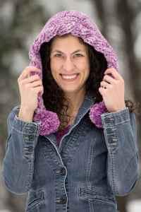 Snow Drifts Pixie Hood | CrochetKim Free Crochet Pattern
