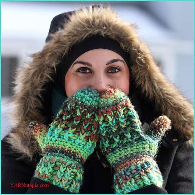 Free Crochet Pattern: Wonderfully Warm Mittens