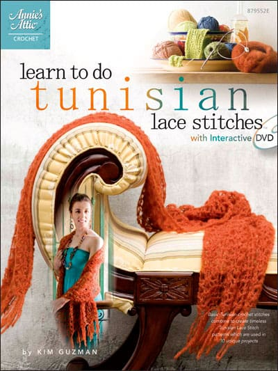 Make It Crochet Prize Entry: Hard Copy Book and DVD, Learn Tunisian Lace Stitches with Kim Guzman