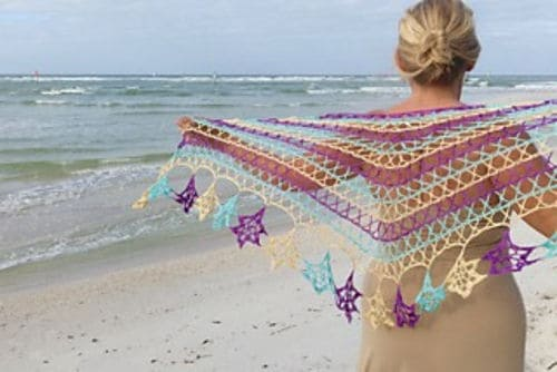 Alayna Crochet Wrap from Motif Magic by Kristin Omdahl