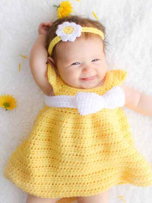 Free Crochet Pattern: Simply Spring Baby Dress